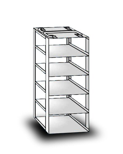 """So-Low 16-5-3 Rack For Chest Style Ultra-Low Freezers. 5 Shelves For 3"""" Boxes. front-451198"""