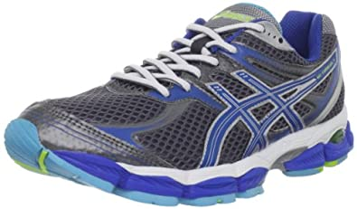 ASICS Women's GEL-Cumulus 14 Running Shoe,Storm/Brilliant Blue/Aqua,6 2A US