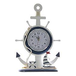 JustNile 13 Silent Non Ticking Nautical Desk Clock