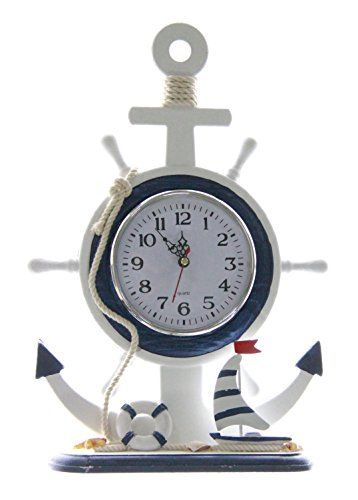 JustNile 13 Silent Non Ticking Nautical Desk Clock