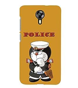 TOUCHNER (TN) Police Doremon Back Case Cover for MICROMAX XPRESS2