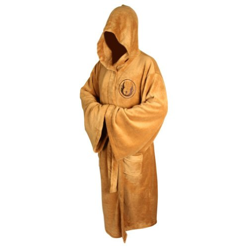 XCOSER Bathrobe Jedi Costumes Luxury Clothing Coral Velvet Brown 2016 Size L