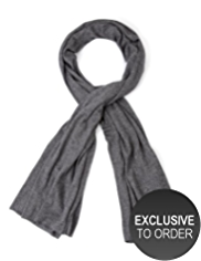 M&S Collection Cashmere Rich Worsted Metallic Effect Scarf