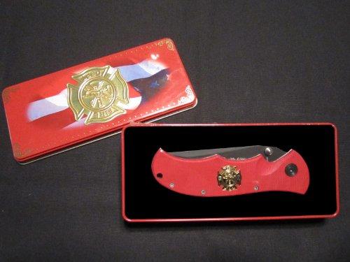 Smith & Wesson Bullseye Fire Dept. Tin W/ Red Knife #Ckfdrt