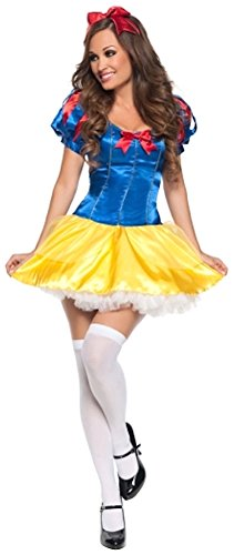 Snow White Adult Women's Costume Halloween Fancy Dress Outfit