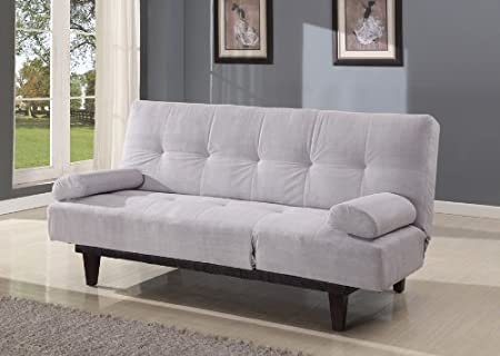 Acme 05855W-SI Cybil Adjustable Sofa Set with Two Pillows, Silver