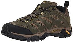 Merrell Men\'s Moab Ventilator Hiking Shoe, Olive, 13 M US