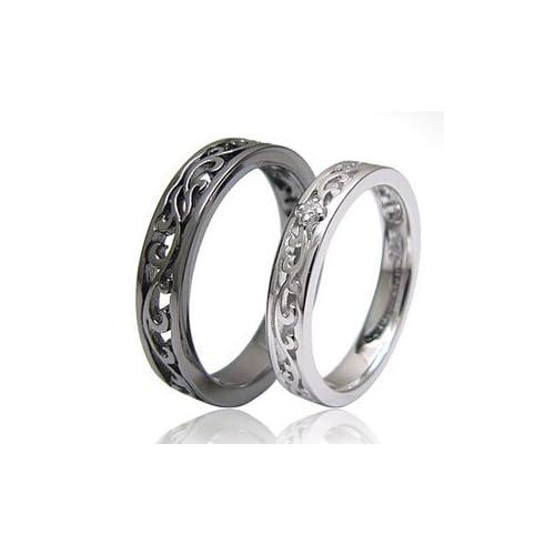 シルバーリング 指輪 メンズ・レディース ペアリング(単品) アラベスク ダイヤモンド r0578 ギフトラッピング付き(2個ペアで購入した場合のみ) 【メンズ-15号】