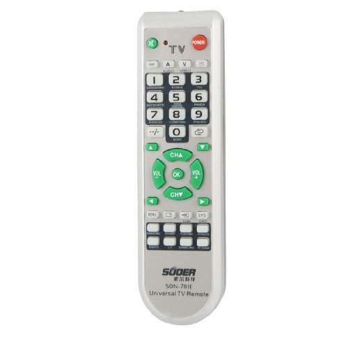 Gino Gray Universal Plastic Shell TV Universal Remote Controller for TCL