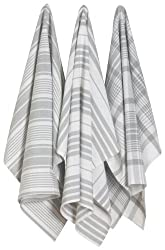Now Designs Jumbo Pure Kitchen Towel London Grey Set of 3