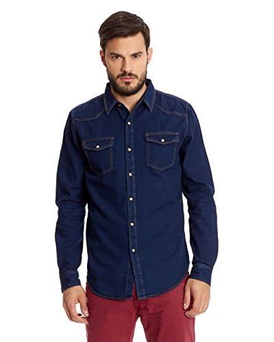 New Caro Camicia Uomo [Blu Scuro]