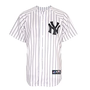 MLB New York Yankees Home Replica Jersey, White, Large