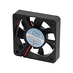 Gino DC 12V 2 Pins Connector Brushless Cooling Fan 50mm x 50mm x 10mm