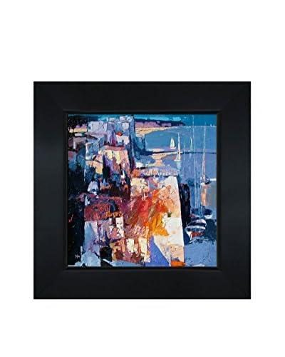"Alex Bertaina ""Les Voiles Au Repos"" Framed Canvas Print"