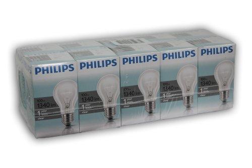 10-x-philips-light-bulb-100-w-e27-clear-pack-of-100-watt