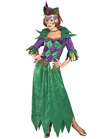 Amazon.com: Forum Mardi Gras Madness Gown, Green/Gold ...