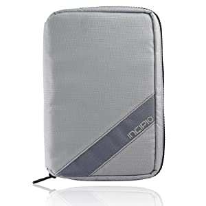 Incipio Sport Zip for e-Reader Compatible with Kindle 2 & 3, Nook, Galaxy Tab and Sony eReader - Gray (BG-117)