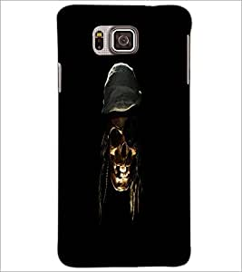 PrintDhaba Pirate's Skull D-1181 Back Case Cover for SAMSUNG GALAXY ALPHA (Multi-Coloured)