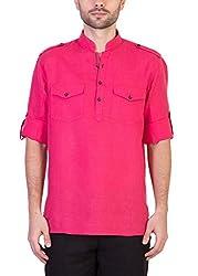 Desam Men's Linen Kurta Pink 39