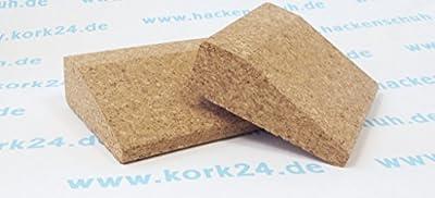 Kork Yoga Keil kurz - Set #2 mit 2 Stück - 100 x 90 x 30mm - natürliche Yoga Keile aus Kork - rutschsicher und natürlich