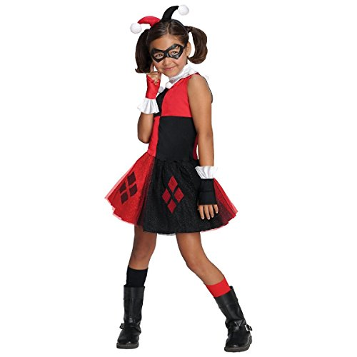 [GSG Harley Quinn Costume for Kids & Toddler Female Villain Halloween Fancy Dress] (Scary Bee Costume)