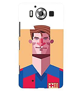 TOUCHNER (TN) Football Player 2 Back Case Cover for Nokia Lumia 950::Microsoft Lumia 950