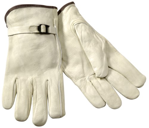 Steiner B240X Drivers Gloves, Top Grain Cowhide, Unlined, Extra Large (White)