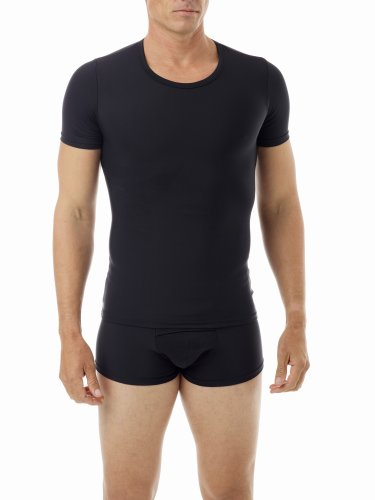 Underworks Mens Extreme Gynecomastia Chest Binder Girdle T-shirt 2X Black