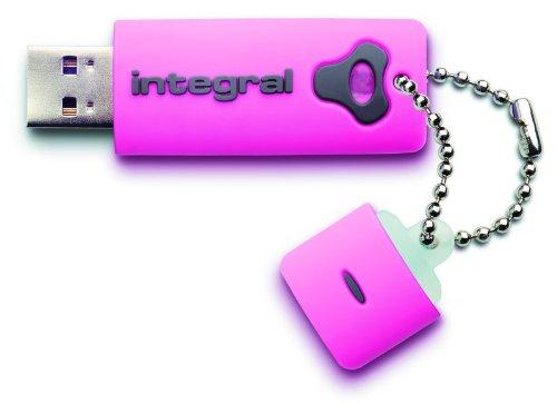 Clé USB Intégral Splash 8 Go Rose Produit neuf. SAV France. Livraison depuis la France
