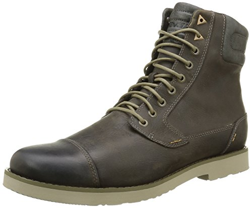 Teva Durban Tall-Leather, Stivaletti Uomo, Marrone (Dark Olive-Doldark Olive-Doll), 43 EU