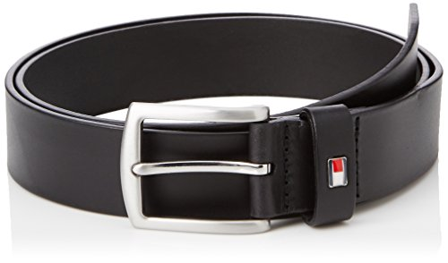 Tommy Hilfiger New Denton Belt 3.5 Cintura, Uomo, Nero (Black), 95