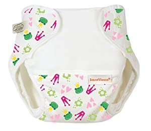 Imse Vimse Organic Cotton Diaper Cover - Kiss The Frog Extra Large