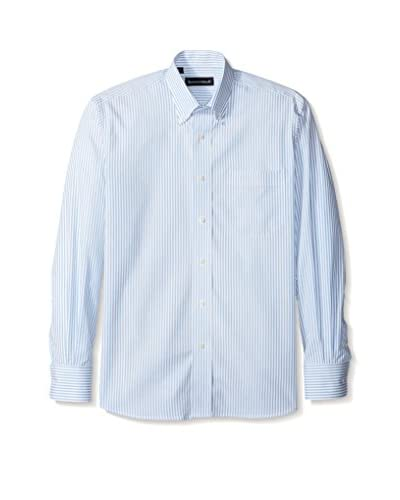 Kenneth Gordon Men's Stripe Button Down Sportshirt