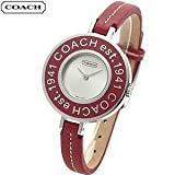 COACH Watches:Coach Heritage 14500876 with Signature Case Back and Red Signature Bezel Women's Watch