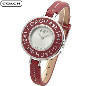 COACH Watches:Coach Heritage 14500876 with Signature Case Back and Red Signature Bezel Women's Watch Images