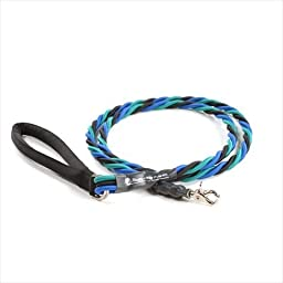 Bungee Pupee 6-Feet Large Leash, Teal/Blue/Black