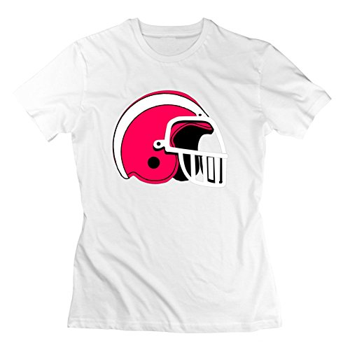 Customized Football Helmet White Women Organic Cotton Short-sleeve Fitted Funny Xx-large T-shirt