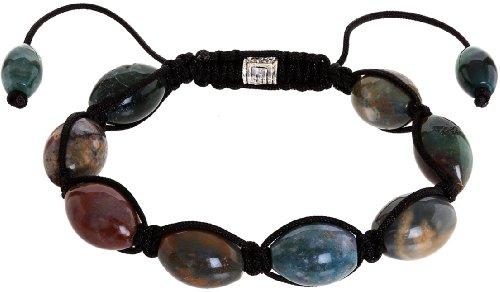Royal Diamond Shamballa Style Bracelet With Beads of Varied Dusky Colors Beads