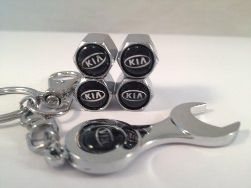 kia-car-wheel-tyre-valve-dust-caps-covers-spanner-keying-set-of-4