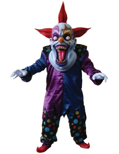Evil Clown Red Blue Oversized Adult Mens Costume