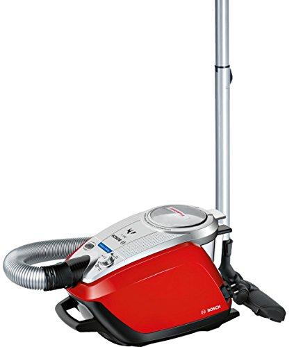 Bosch BGS5ZOOO2 - Aspirador sin bolsa especial mascotas, tecnología SensorBagless, 950 W, autolimpieza del filtro SelfClean, color rojo