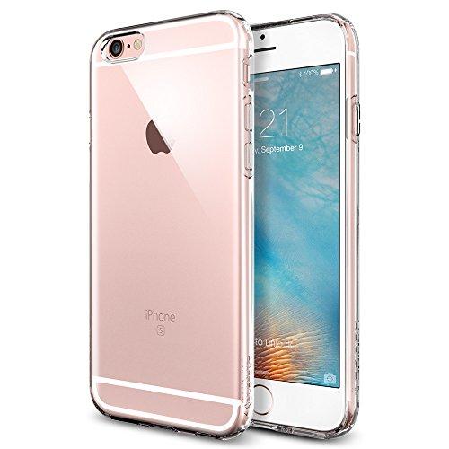 【Spigen】 iPhone6s ケース / iPhone6 ケース カプセル [ ソフト TPU ] アイフォン 6s / 6 用 米軍MIL規格取得の耐衝撃カバー (クリスタル・クリア SGP11753)