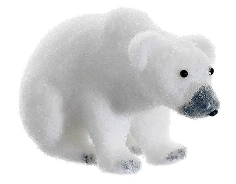 Snow Drift White Sitting Polar Bear Table Top Christmas Figure Decoration by Allstate