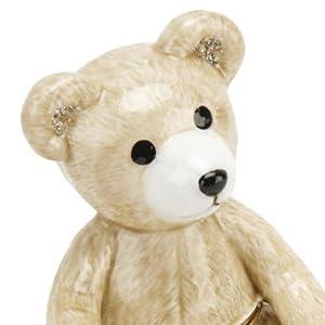 Joyero - oso de peluche caja de la baratija Metal fundido