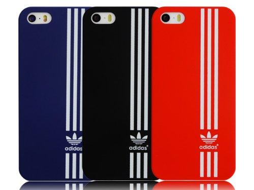 iPhone5/5S ケース 【adidas】(アディダス) 縦スリーライン ハードケース ネイビー