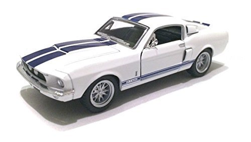 Scale 1/38 1967 Ford Shelby Mustang GT-500 diecast car White - 1