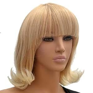 Short Wave Hair Wig,Golden Blonde color