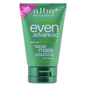 Alba Botanica Even Advanced Deep Sea Facial Mask, 4.0 Ounce Tubes (Pack of 2)
