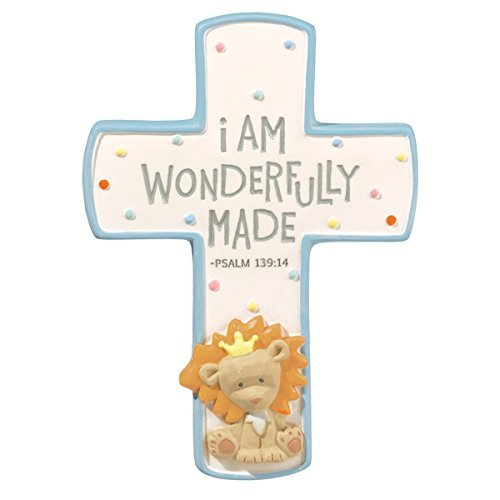 Grasslands Road Religious Cross I Am Wonderfully Made - Blue (Blue) - 1