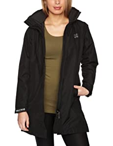 Helly Hansen Women's Long Aden Waterproof Jacket - Black, X-Small
